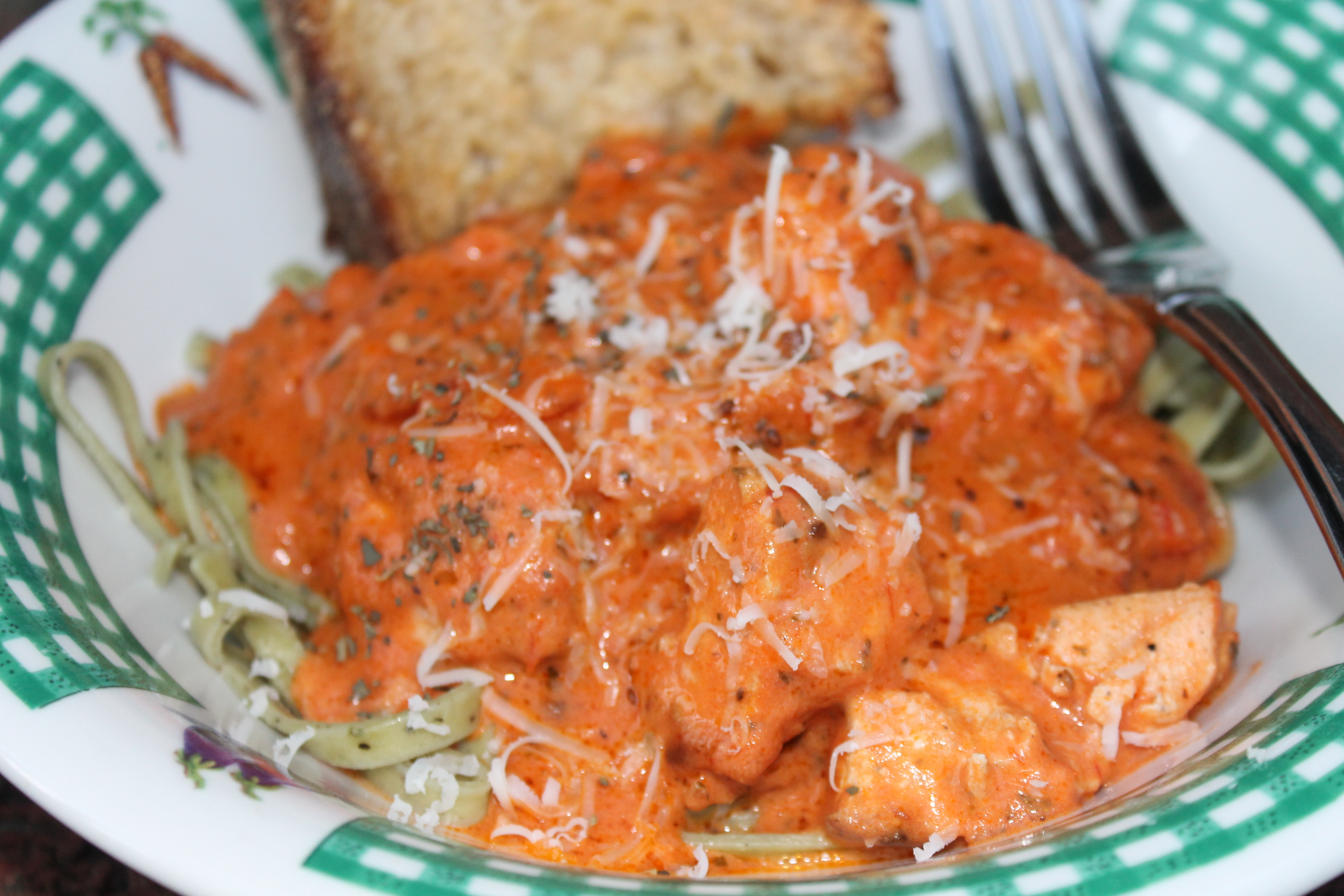 Penne pasta and salmon recipe
