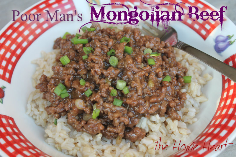Poor mans mongolian beef the home heart poor mans mongolian beef forumfinder Choice Image