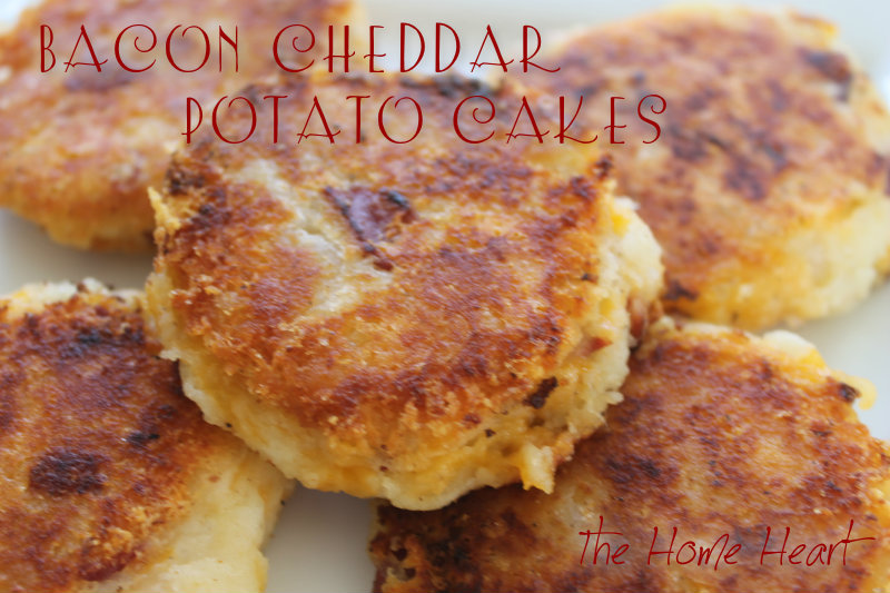 Bacon Cheddar Potato Cakes | The Home Heart