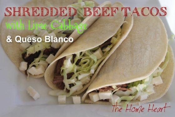 shred beef taco