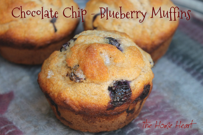 Basic Muffin Recipe with Chocolate Chips & Blueberries