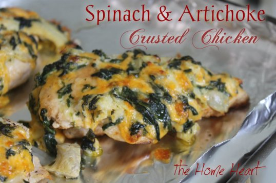 Spinach Artichoke Crusted Chicken