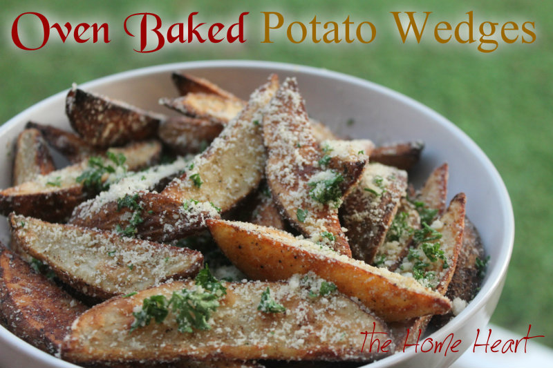 Oven Baked Potato Wedges | The Home Heart