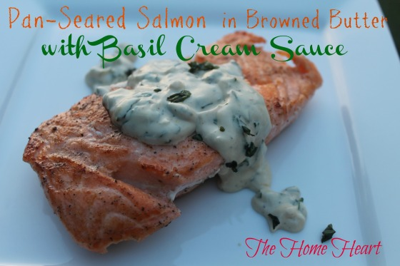 basil cream sauce & salmon