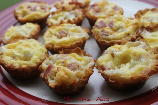 mini meaty cheesy quiche