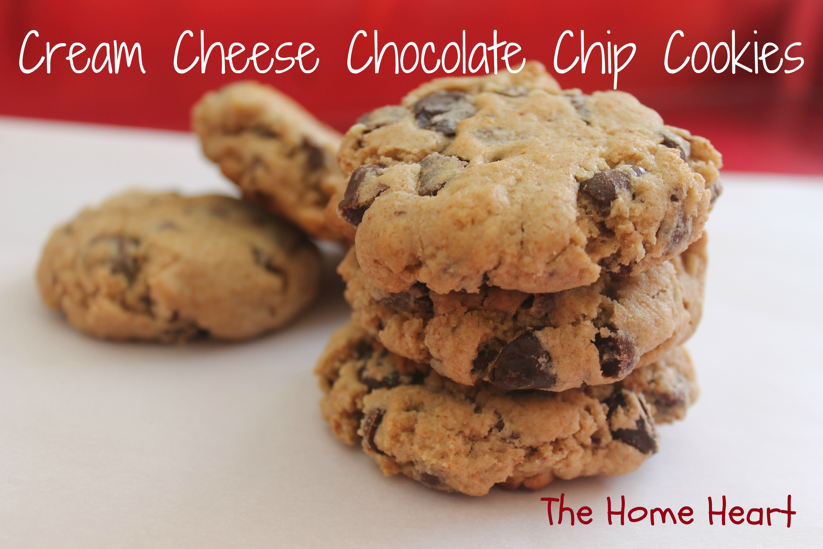 Cream Cheese Chocolate Chip Cookies | The Home Heart