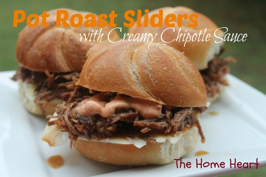 pot roast sliders with creamy chipotle sauce
